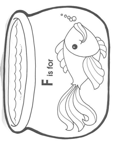 coloring pages fish bowl fish bowl coloring page preschool ideas pinterest