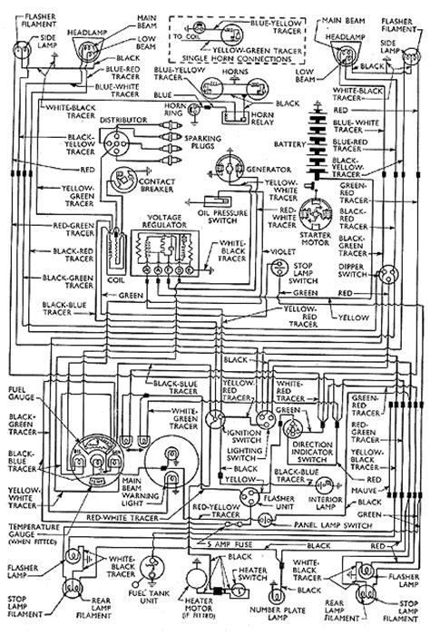 wiring diagram  anglia prefect deluxe escort