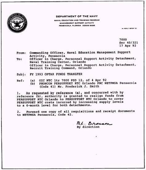 Navy Letter Of Agreement Chapter 1 Administration Plant Account And Publications