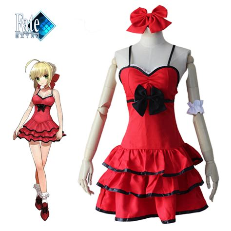 Pvc Anime Fate Stay Fate Ccc Saber Dress Ver saber dress fate ccc fate stay zero costume japanese anime nero