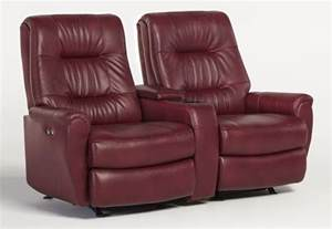 felicia small scale rocking reclining loveseat with drink holder and storage console by best