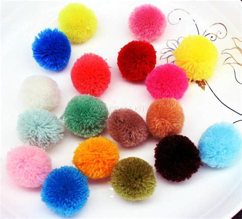 Handmade Pom Pom Decorations - 400pcs 20 25mm mix color pom pom pompom yarn pom pom