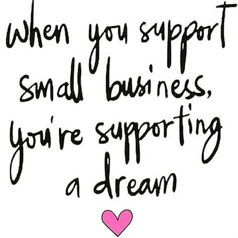 thank you to everyone who supports small businesses