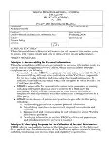 policy and procedure document template exles of policies and procedures pictures to pin