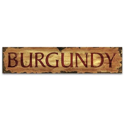 Vintage Wood Signs Home Decor Burgundy Vintage Home Decor Wood Sign