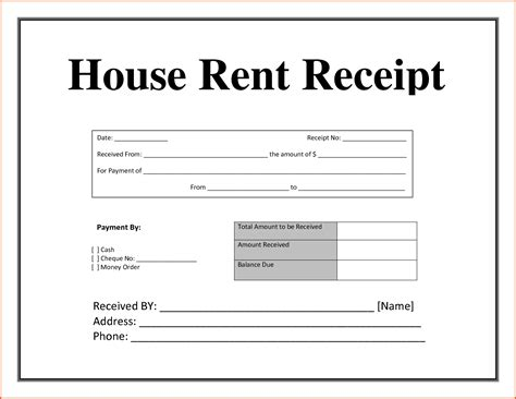 Rent Receipt Template Uk Free by Free Rent Receipt Bamboodownunder