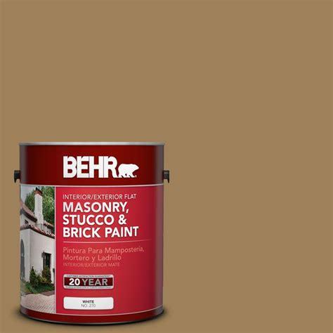 behr premium 1 gal ms 45 tuscany gold flat interior exterior masonry stucco and brick paint
