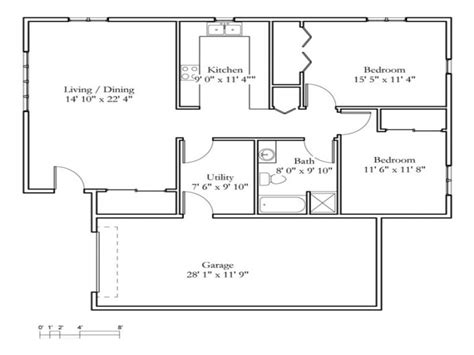 small 2 bedroom cottage 2 bedroom cottage floor plans