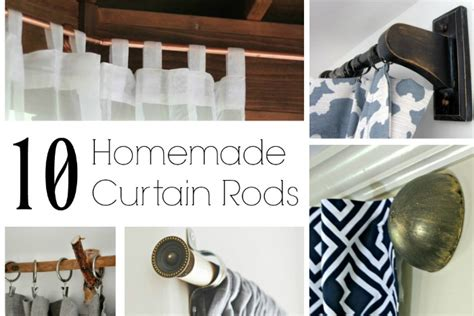 how to make homemade curtain rods no sew kitchen curtains from tablecloths