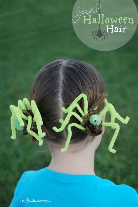 fun halloween hair spider hair onecreativemommycom