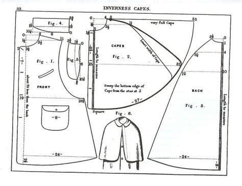 jacket pattern types inverness cape research greatcoat project pinterest