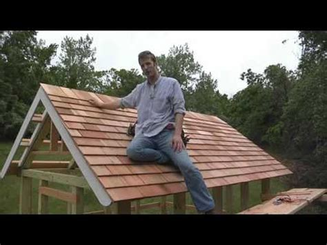 Putting A Roof On A Shed by How To Install Cedar Shingle Siding And Polycarbonate Roof