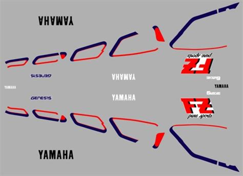 Stickers Yamaha Fz 750 by 1987 Fz750 Fz700 Decal Kit Rddecals Motorcycle