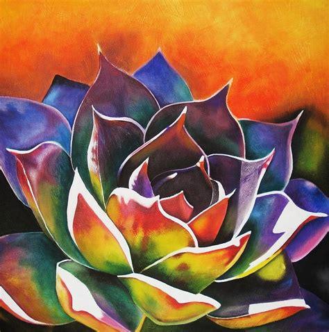 maribel garzon painting succulent wood color art