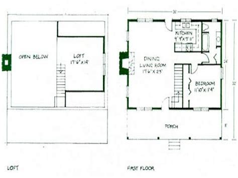 House Plan With Loft by Simple Small House Floor Plans Small Cabin Floor Plans