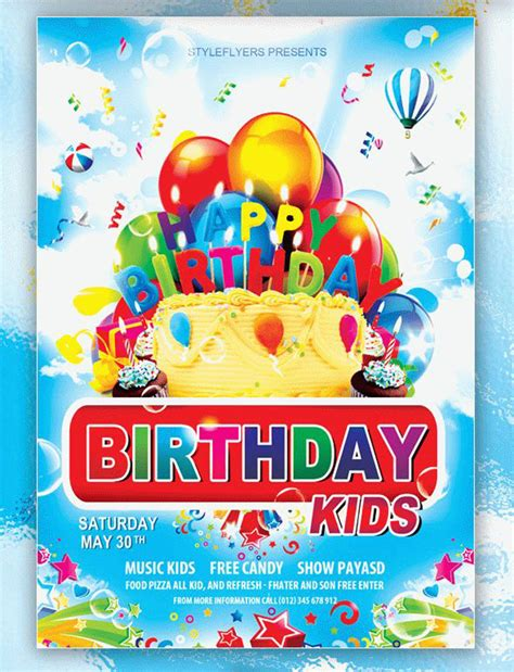 birthday invitation flyer template free birthday invitation psd custom invitations