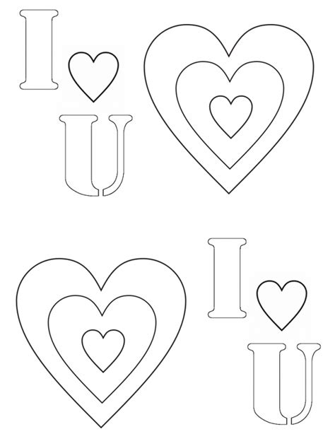 Gaara Coloi Heart U Colouring Pages I Love You Printable I U Coloring Pages