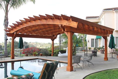 Arched Pergola Kits Redwood Arched Garden Pergolas Redwood Pergola Kits