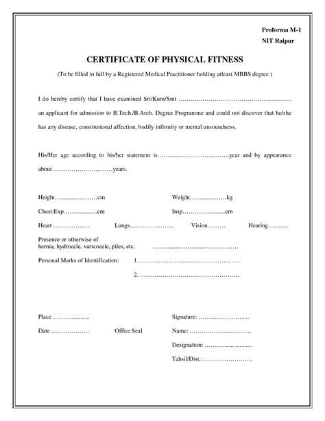 free hospital medical certificate template free premium templates