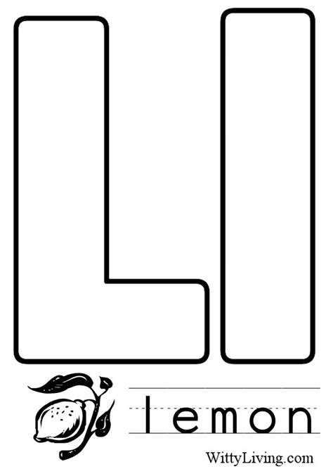L You Coloring Pages by Letter L Coloring Pages To And Print For Free