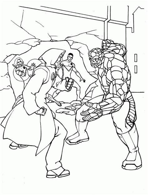 fantastic four coloring pages coloringpages1001 com