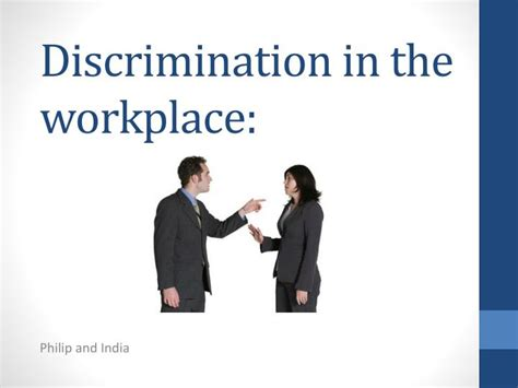 ppt discrimination in the workplace powerpoint presentation id 5148955