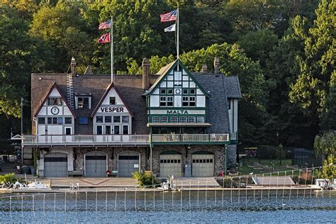 Vesper And Malta Boat Clubs Boathouse Row Photograph By Susan Candelario
