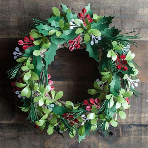 printable paper holly wreath 30 best images about cricut 3d floral home decor on pinterest