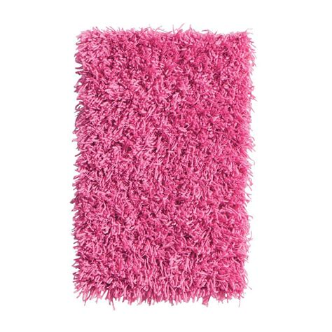 Pink Shag Area Rug Home Decorators Collection Ultimate Shag Pink 6 Ft X 9 Ft Area Rug 7575491240 The Home Depot
