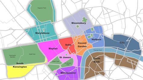 london sections map map of central london neighborhoods deboomfotografie