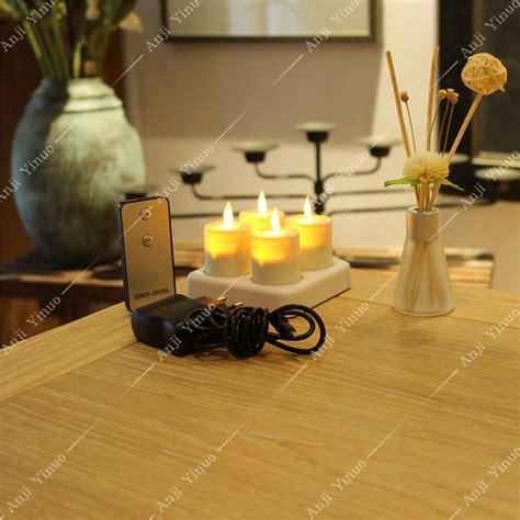 luminara rechargeable tea lights set of 4 with base image gallery luminara tea lights