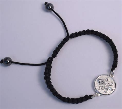 Pegasus Fleur de Lis© Braided Bracelet   Black ? The Classic Horse