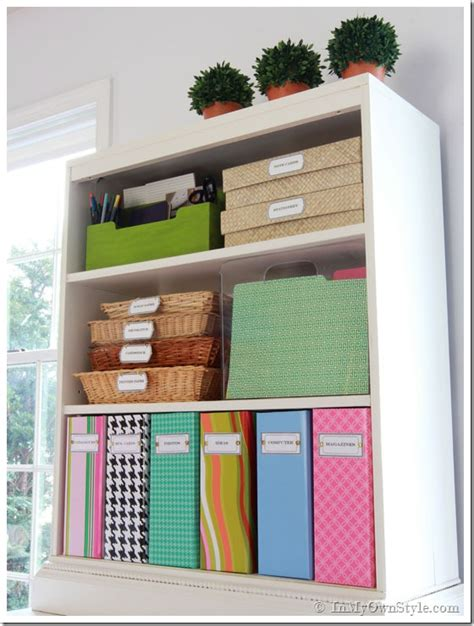 organizing a home office organizing ideas colorful magazine files free labels