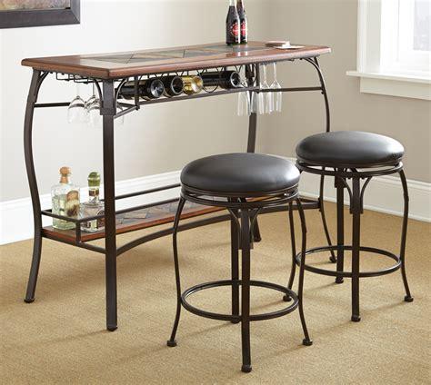 bar set steve silver dakota 3 bar table set beyond stores