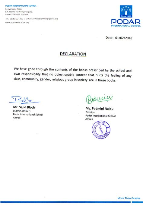 Guarantee Declaration Letter declrection letter choice image cv letter and