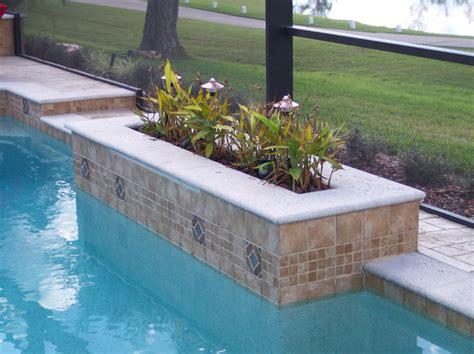 raised planter with precast coping elite weiler pools