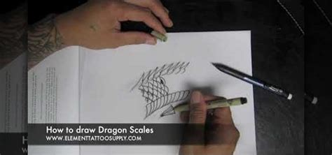 how to draw scales for a dragon or khoi fish tattoo