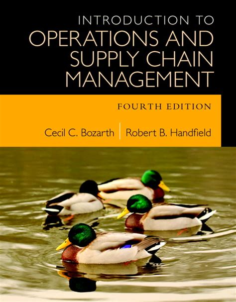 Mba Operations And Supply Chain Management Syllabus by Bozarth Handfield Introduction To Operations And Supply
