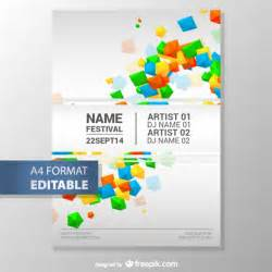 free poster template colorful geometric editable poster template vector free