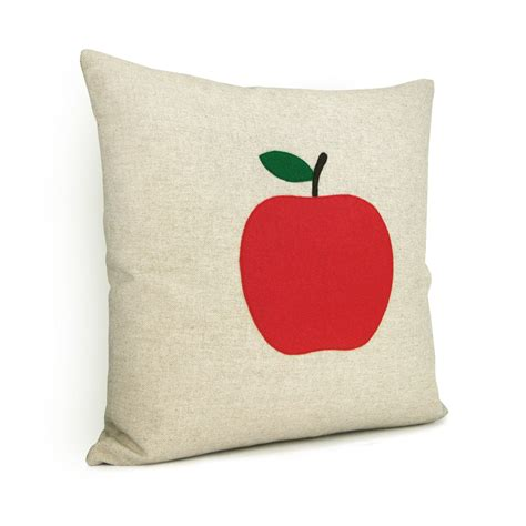 apple green decorative pillows apple pillow cover in green and white 16x16 decorative