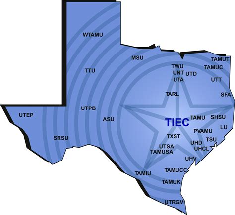 texas colleges map colleges and universities colleges and universities in texas map