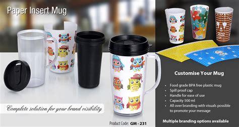 Mug Technoplast Insert Paper paper insert mug home