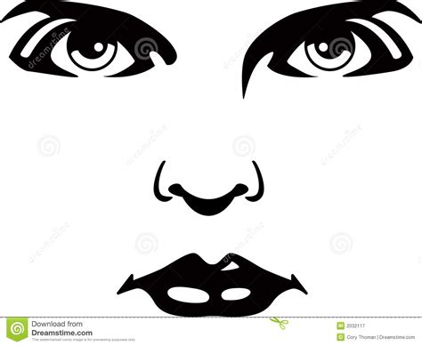 Lips Nose And Eye Clipart Clipground