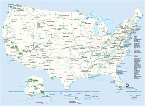 united states map cities carte des etats unis
