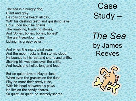 the sea by james reeves themes as read study and show understanding of short written