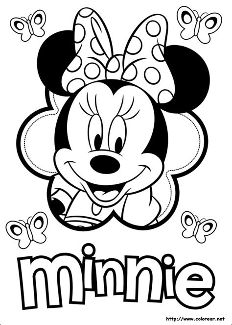 minnie mouse coloring page pdf dibujos para colorear de minnie