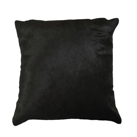Black Leather Pillow by Cowhide And Leather Throw Pillows