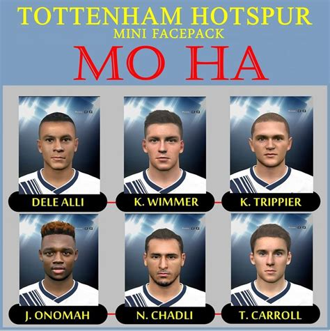 official tottenham hotspur 2016 1780549784 pes 2016 tottenham hotspur mini face pack by mo ha emodder patch official