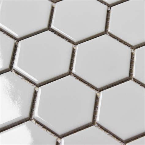 1 Hexagon Ceramic Floor Tile - white porcelain mosaic tile sheets large hexagon ceramic