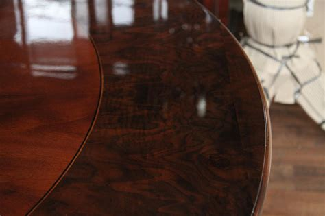 round walnut 72 round mahogany pedestal dining with burled walnut